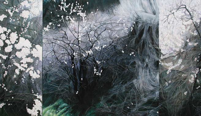 Blooming Deadwood  - Marie Cameron - Oil - web