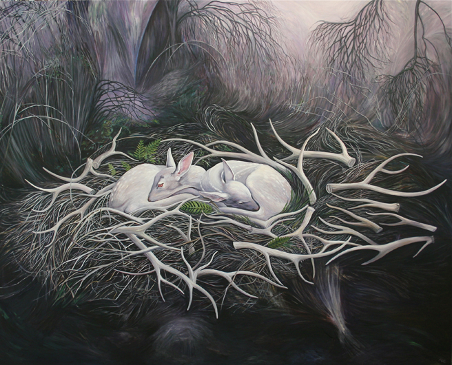Marie Cameron - Bed of Ghosts 2012 oil on canvas 48 x 60 web