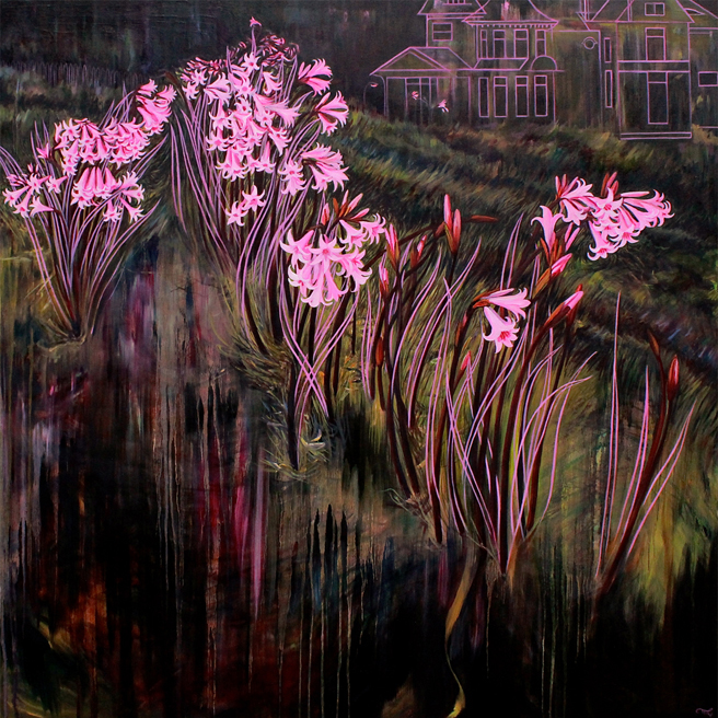 Pink Traces - Marie Cameron - oil on canvas - 36 x 36in 2018- web
