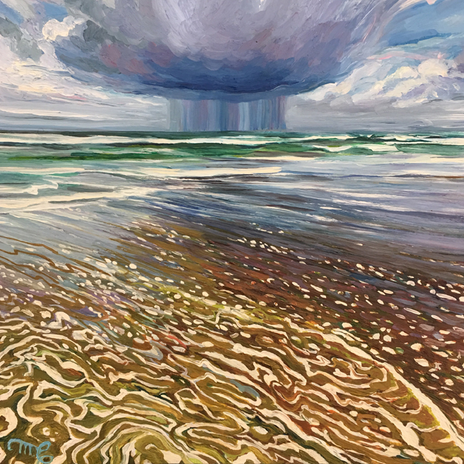 Storm Cloud - Marie Cameron - oil on cradled panel, 6x6in - 2019 - web