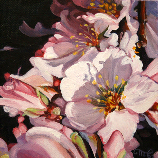 Cherry blossom mauve shadow marie cameron studio for Canvas painting of cherry blossoms