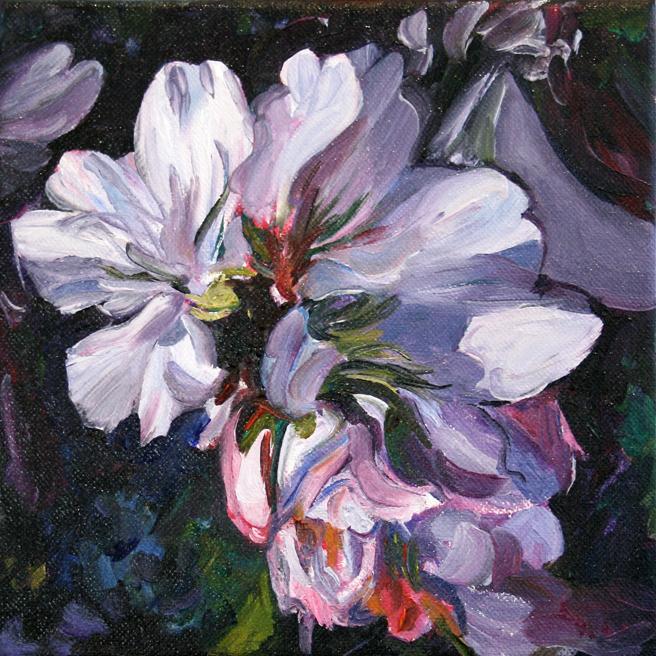 Marie Cameron Cherry Blossom Cluster in progress 2012 3