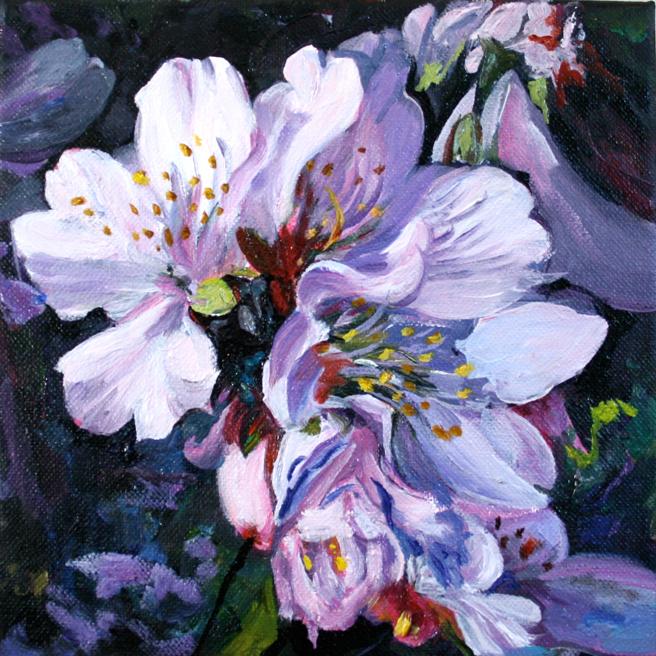 Marie Cameron Cherry Blossom Cluster in progress 2012 4