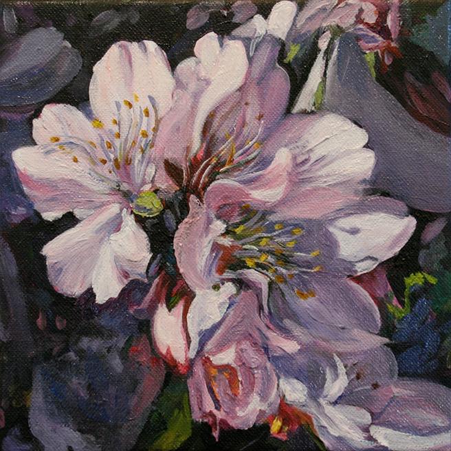 Marie Cameron Cherry Blossom Cluster in progress 2012  6