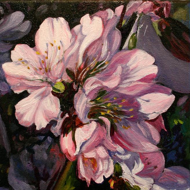 Marie Cameron Cherry Blossom Cluster in progress 2012 7