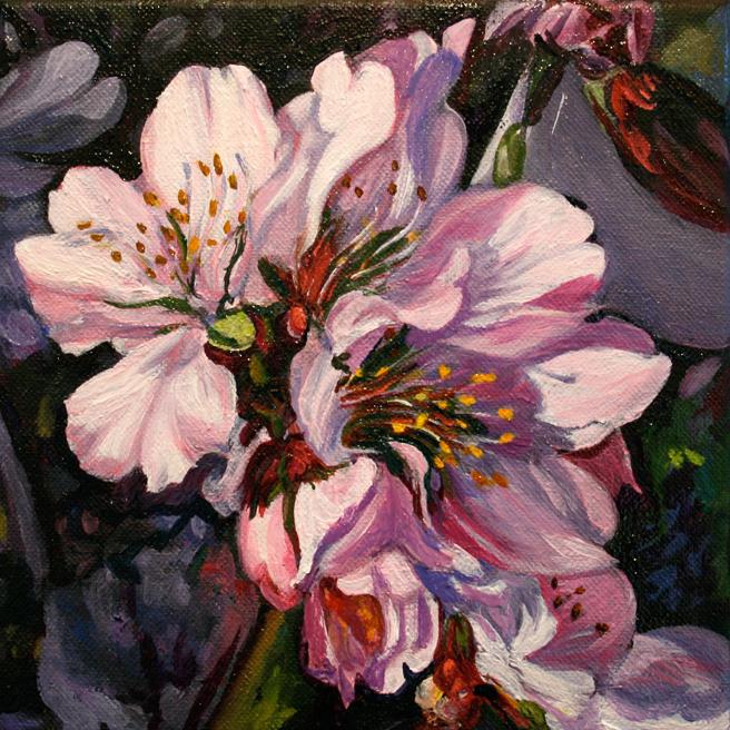 Marie Cameron Cherry Blossom Cluster in progress 2012 8