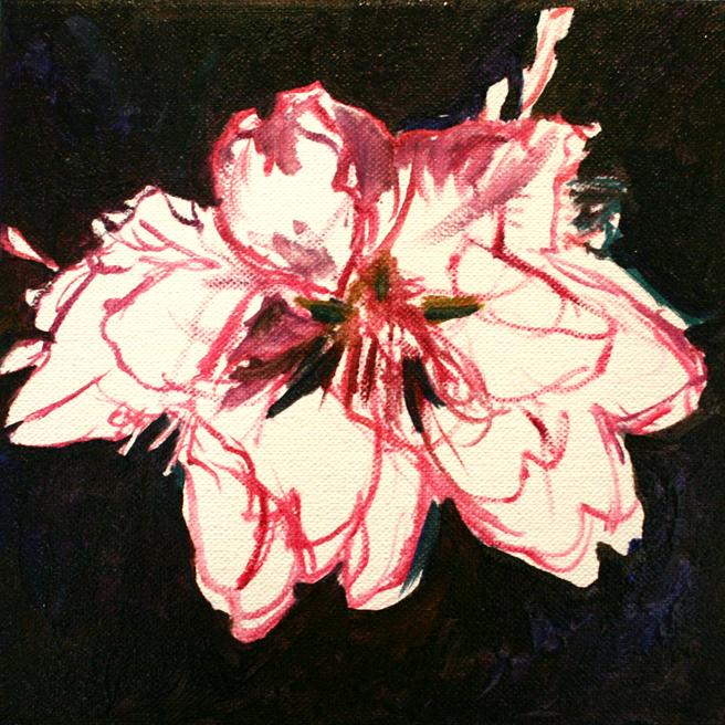 Marie Cameron Cherry Blossom in progress  A 2012