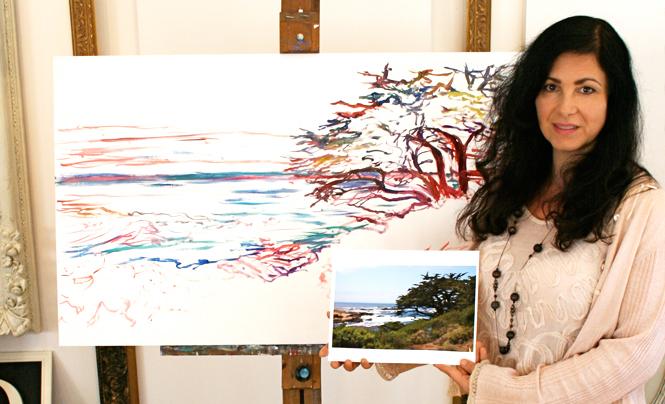 Marie Cameron Monterey Cypress Progress  1 2012
