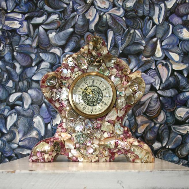 Marie Cameron Studio Shell Fragment Clock 2012