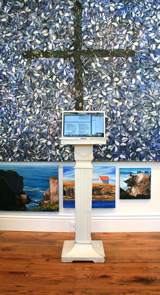 Marie Cameron Studio Computer Pedestal 2012
