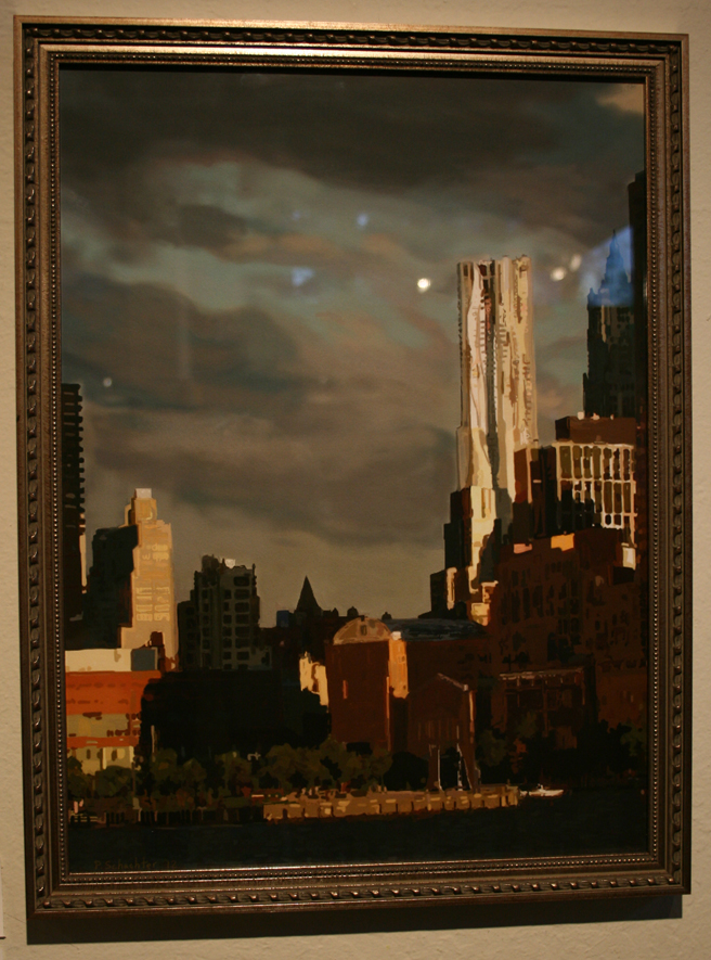 Peter Schachter's New York Late Summer Afternoon iPad painting third - photo Marie Cameron 2012