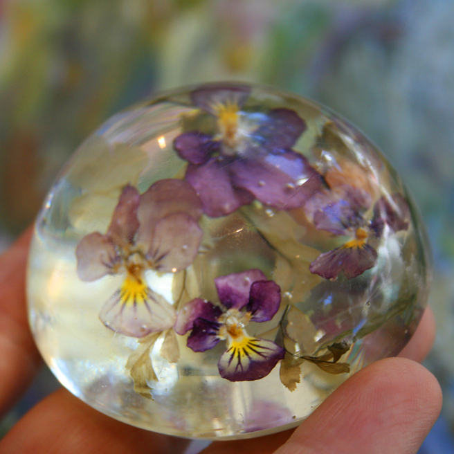 Heartsease Paperweight  photo Marie Cameron 2012