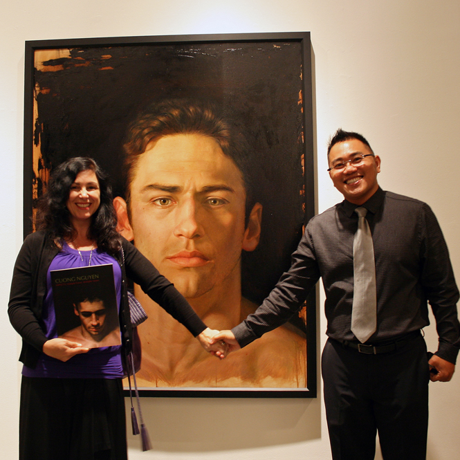Marie Cameron meets Cuong Nguyen at the Triton