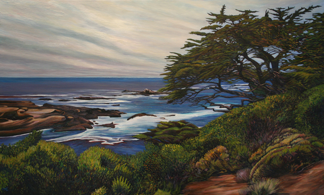 Marie Cameron Monterey Cypress, Point Lobos oil on canvas 2012