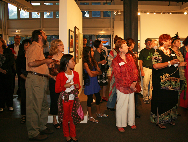 Scapes Reception at the Pacific Art League - photo Marie Cameron 2012