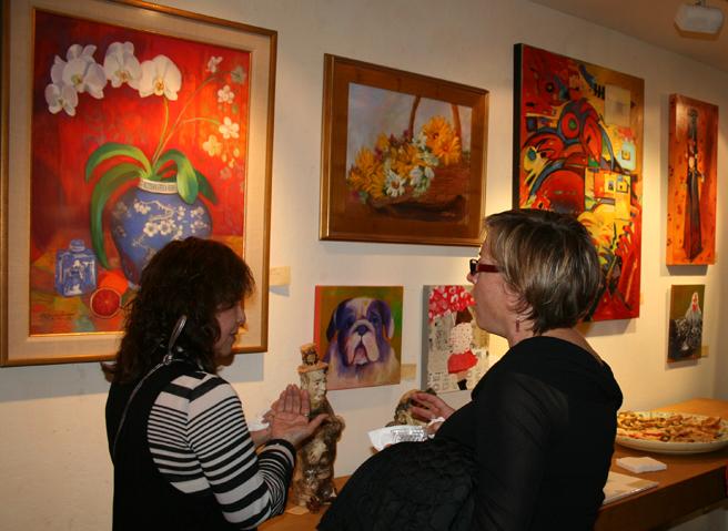 Artists Sandi Okita and