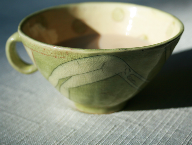 Celadon Cup with Handle- photo Marie Cameorn 2012