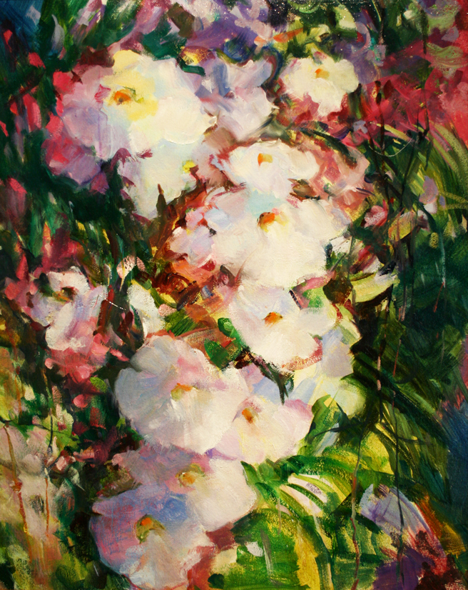 Diana Leone's oil painting Bountiful Maui.