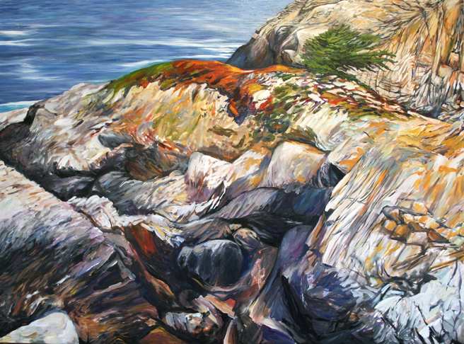 Painting Cypress Rock - Marie Cameron 2012 10