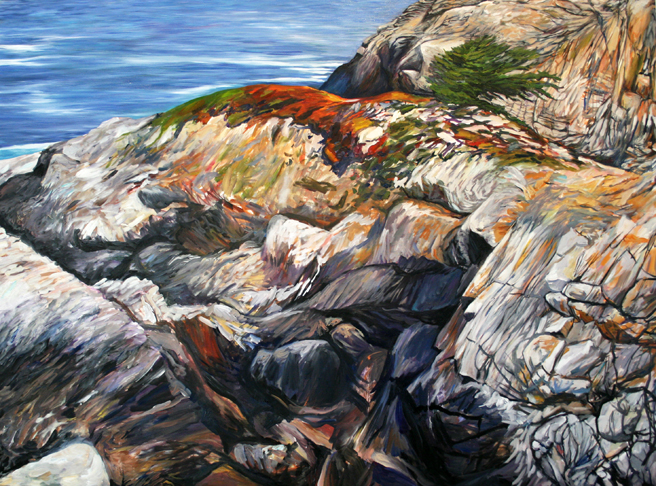 Painting Cypress Rock - Marie Cameron 2012 11