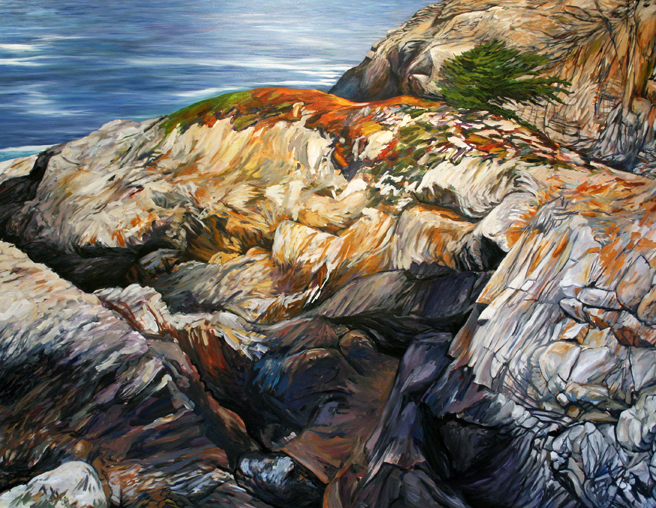 Painting Cypress Rock - Marie Cameron 2012 12