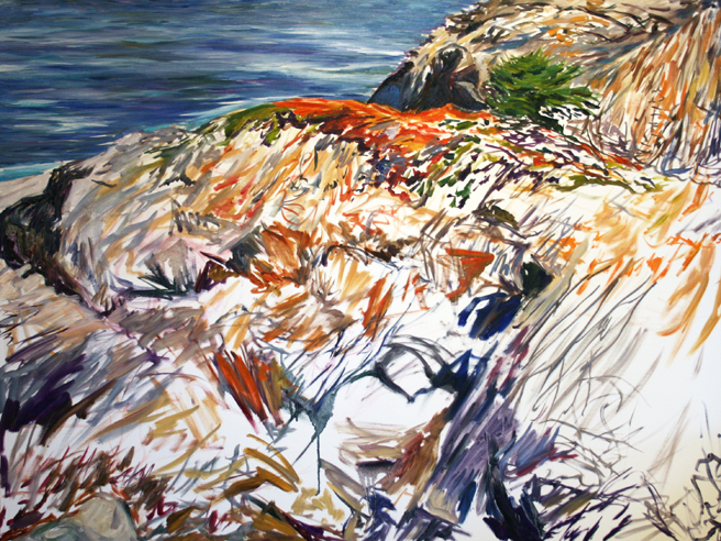 Painting Cypress Rock - Marie Cameron 2012 4