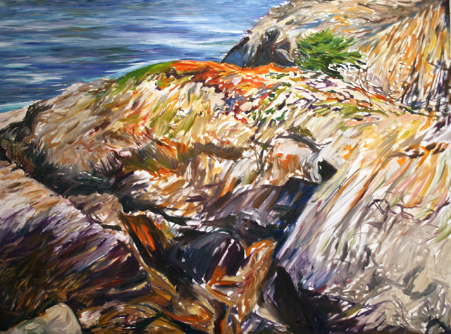 Painting Cypress Rock - Marie Cameron 2012 5