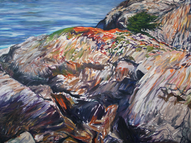 Painting Cypress Rock - Marie Cameron 2012 7