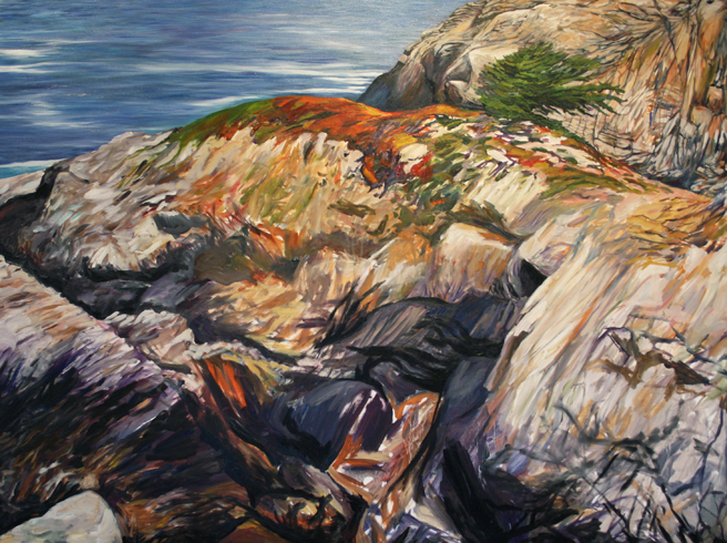 Painting Cypress Rock - Marie Cameron 2012 9