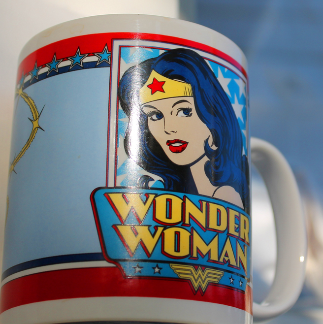 Shiny Wonder Woman Mug photo Marie Cameron 2012