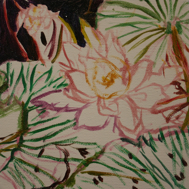 Desert Lake Pond Lily I in progress Marie Cameron 2012