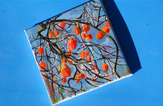 Fresh Persimmon Painting - photo Marie Cameron 2012