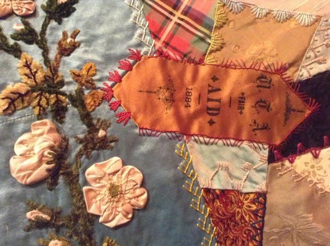Elizabeth Parkhurst Williams Crazy Quilt 1884-90 Aid Ribbon