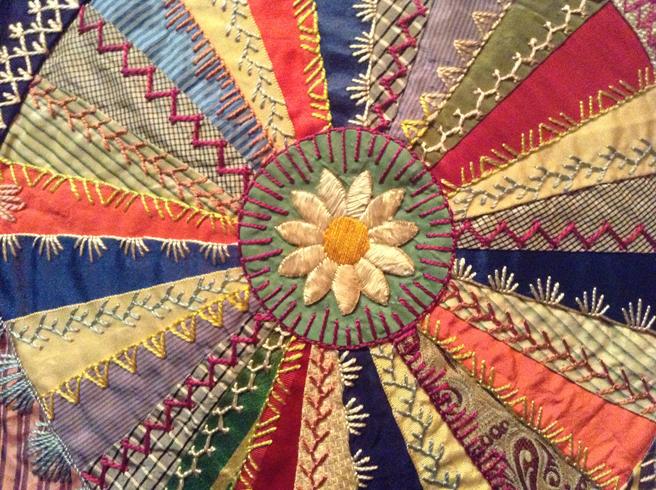 Elizabeth Parkhurst Williams Crazy Quilt 1884-90 Daisy