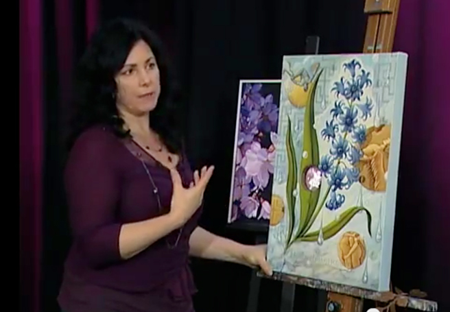 Still from Marie Cameron's Florilegia Talk Art Interview