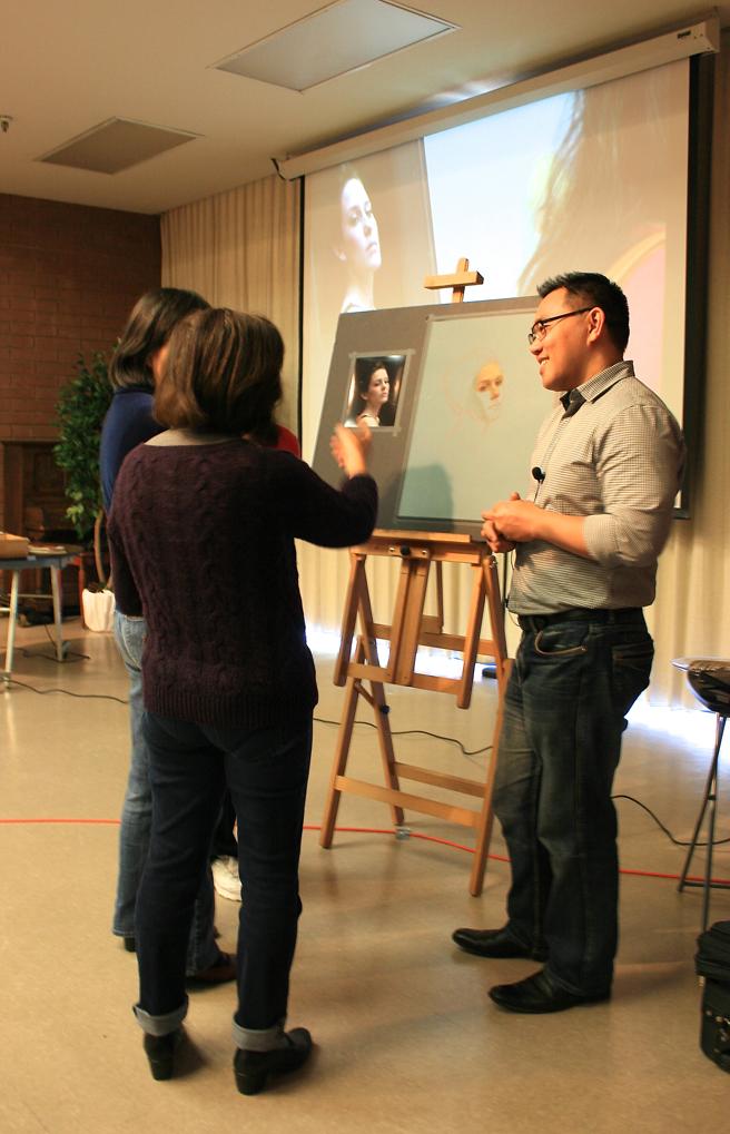 Cuong Nguyen talking with LGAA members 3:9:13