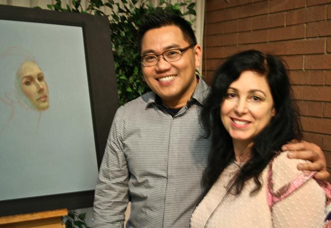Marie Cameron with Cuong Nguyen at his LGAA  demo 3:12