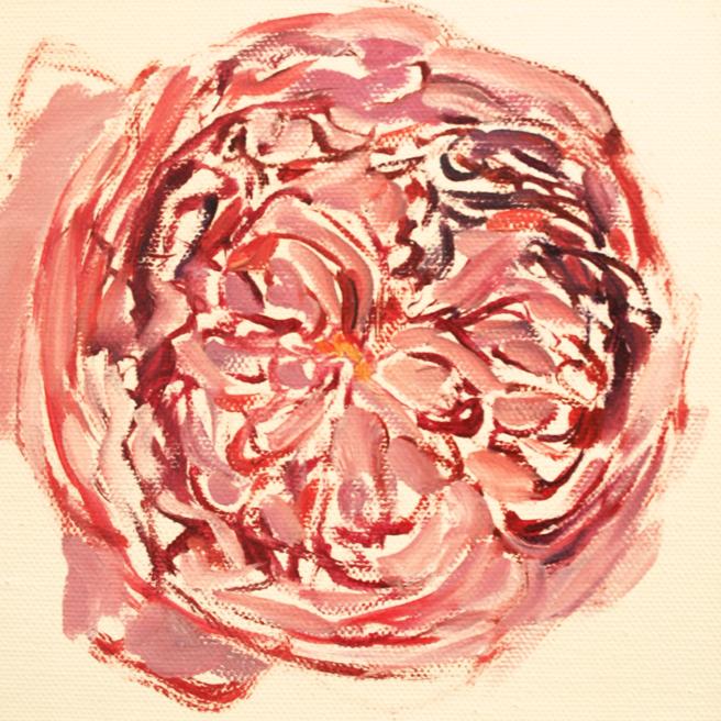 Rose Mandala in Progress 2 Marie Cameron 2013