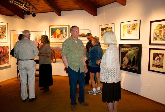 Artist Andy Ballantyne and  others at the LGAA Spring Show