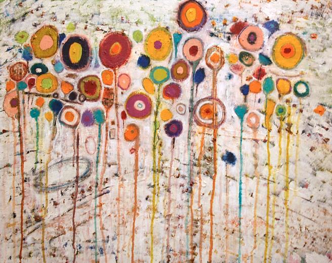 Breath of Spring Muses of a Garden mixed media by Dean Moniz Sacremento, CA