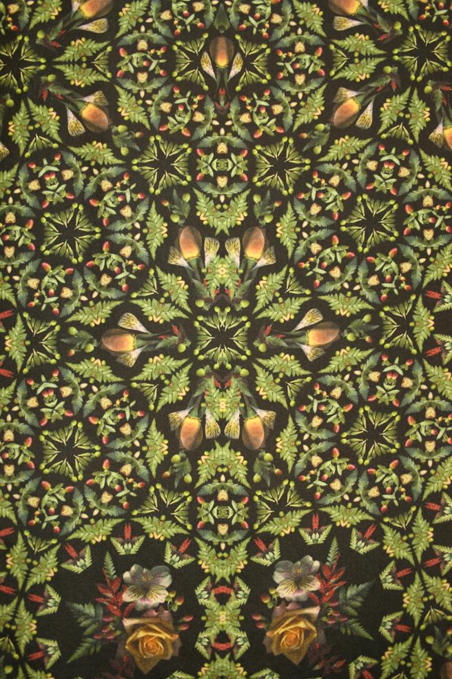 Breath of Spring Roses, Alstromenia & Ferns by Anna Chupa, Allentown, PA Acid Dye on Habatoi silk H.M.