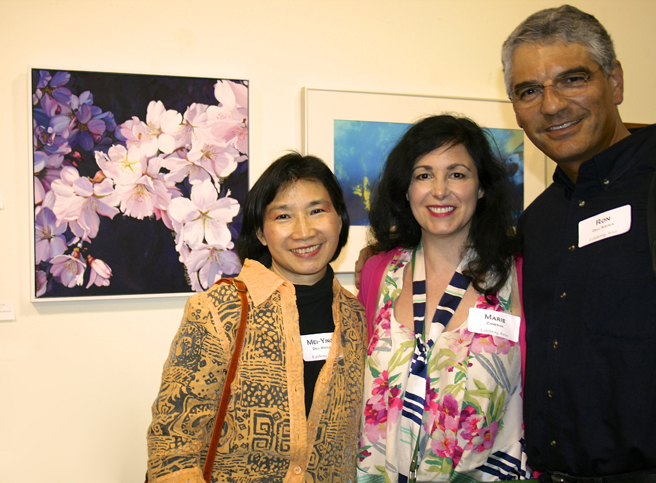 Breath of Spring artists Mei-Ying Dell'Aquila, Marie Cameron and Ron Dell'Aquil