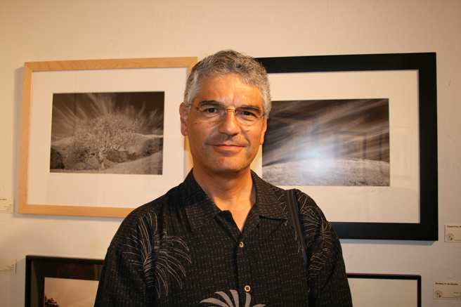 Ron Dell'Aquila and his photographs at the LGAA Spring Show