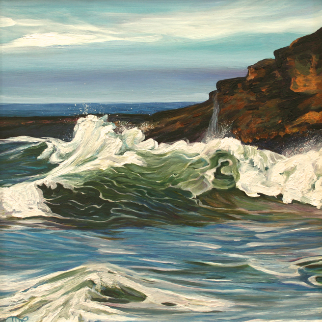 Davenport Surf by Marie Cameron 2013 11.5x11.5 in  oil on canvas