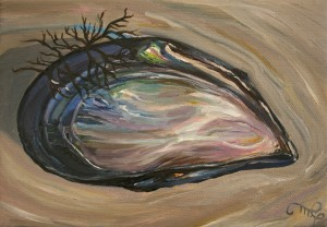 Mussel Shell I by Marie Cameron 2013