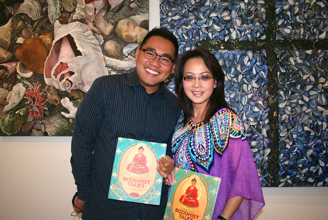 Artist Cuong Nguyenand his lovely friend Kim.