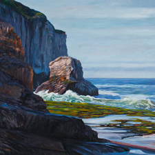 Shark Fin Cove by Marie Cameron oi on canvas 16x20 in sm