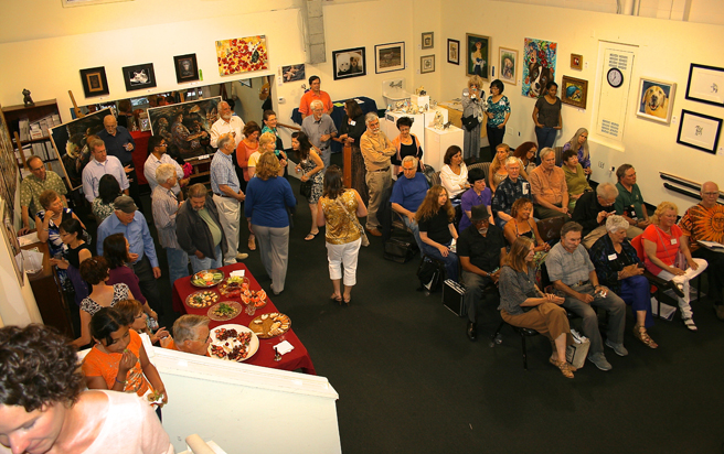 First Friday Opening Reception at PAL-Fur, Feathers & Fins & Poetry