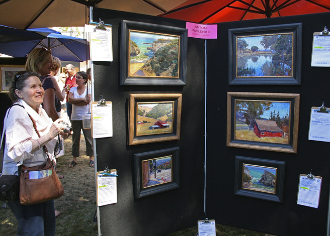 Los Gatos Plein Air 2013 Anton Pavleko's work