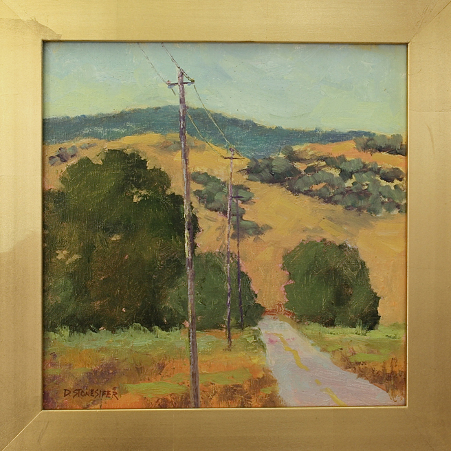 Los Gatos Plein Air 2013 David Stonesifers Laguna Road at Santa Teresa